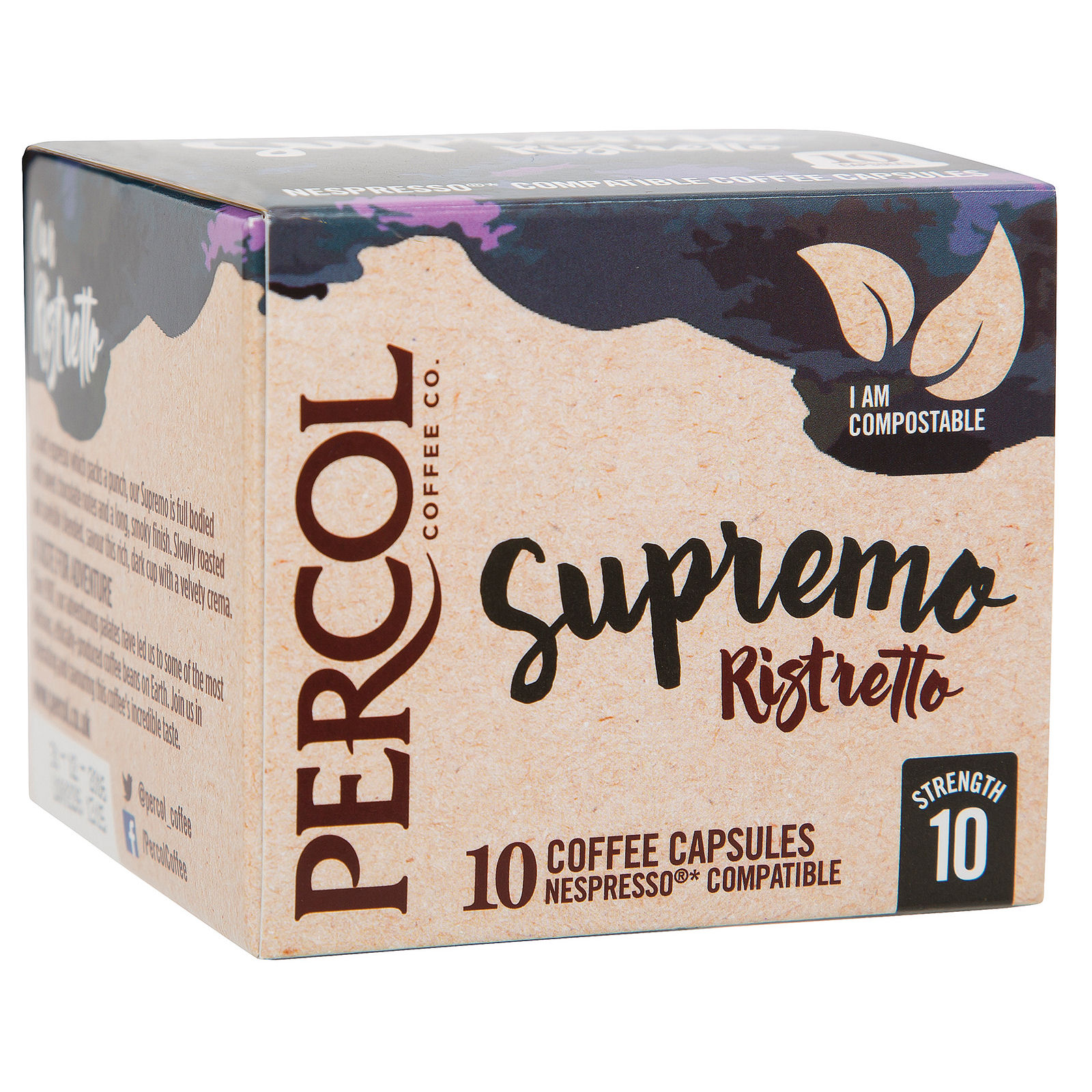 Percol Supremo Ristretto Espresso Capsules Ref A07982 [Pack 10]