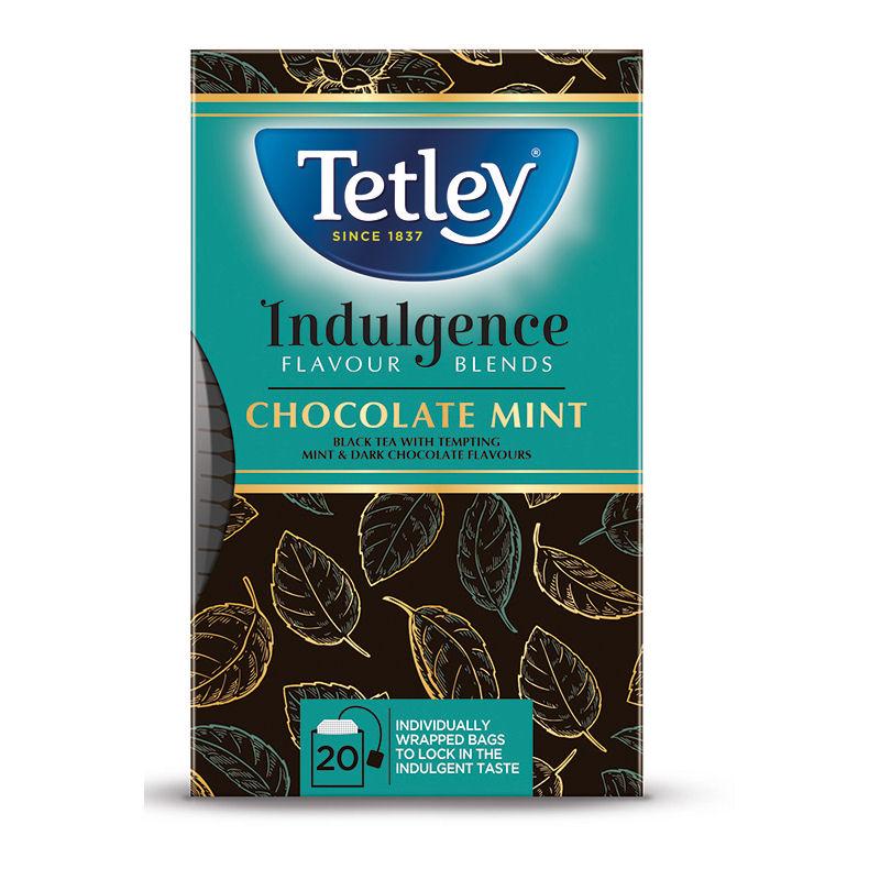 Tetley Indulgence Teabags String & Tag Chocolate Mint Ref 4003A [20 Bags]