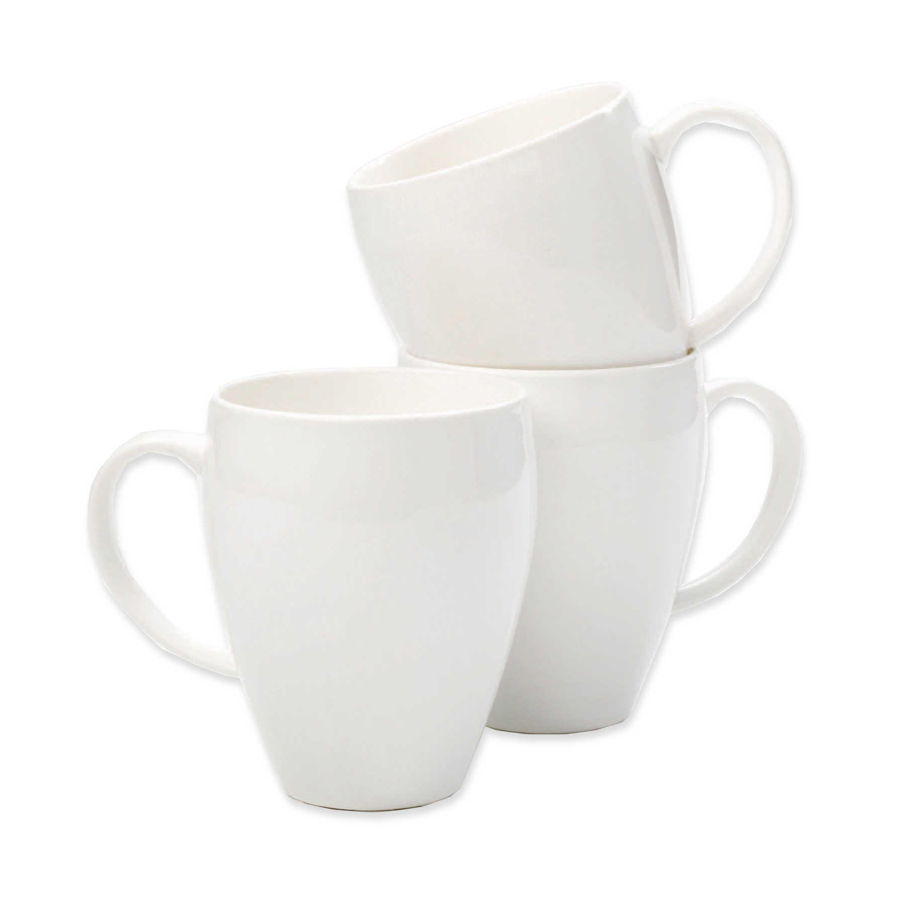 Earthenware Mugs White (6)