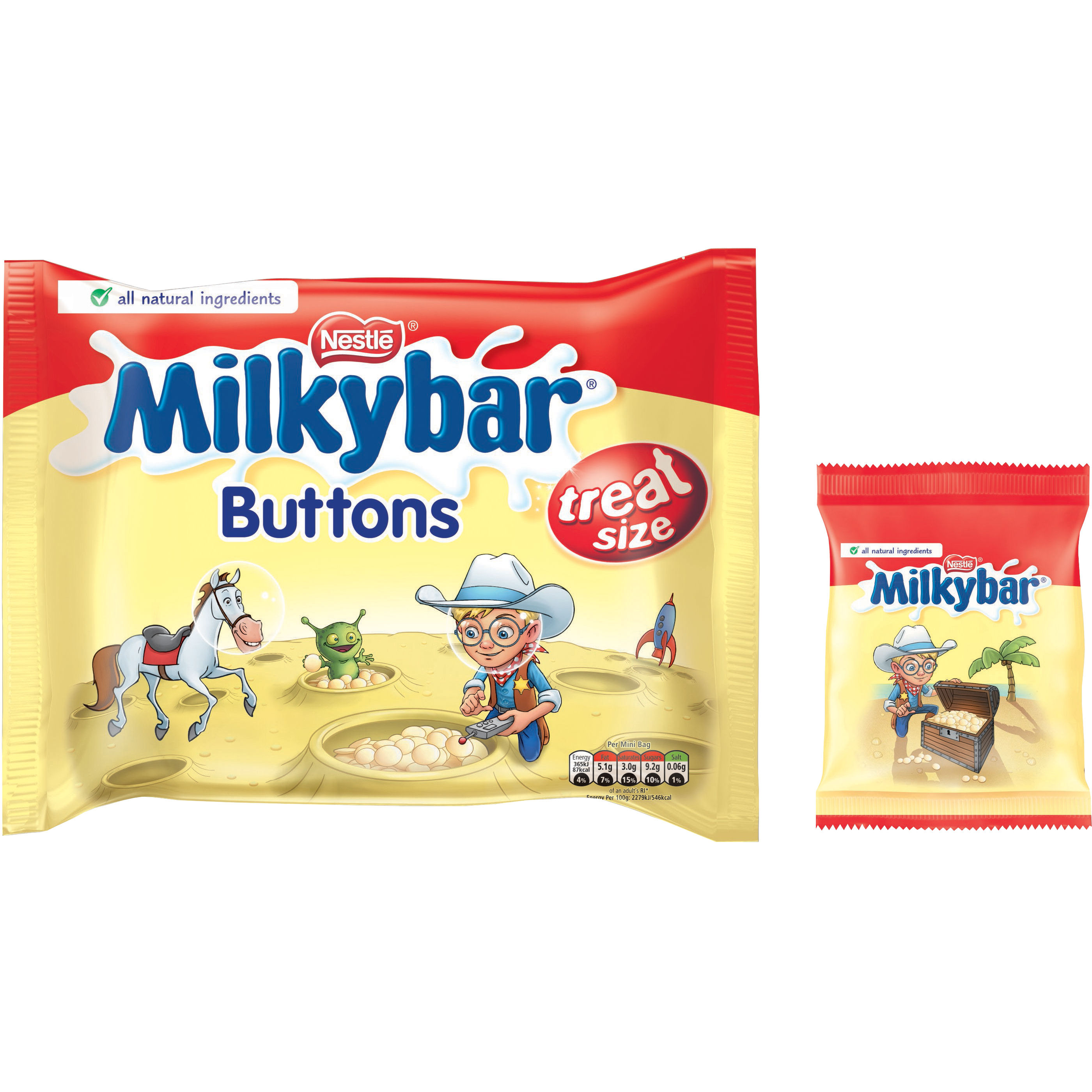 Milky Bar Buttons White Chocolate Mini Bags 189g Ref 12132820