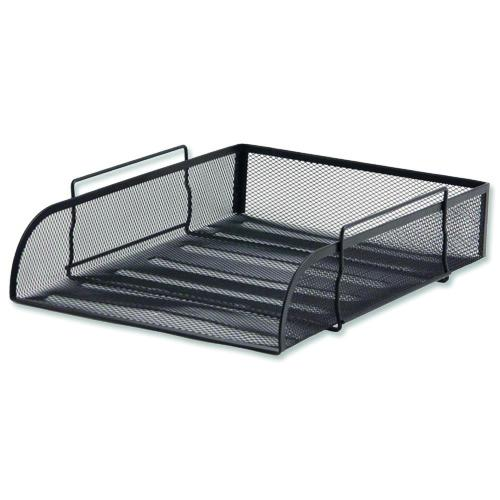 Value Wire Mesh Letter Tray Black