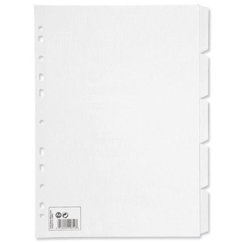 Value Subject Dividers A4 5 Part White