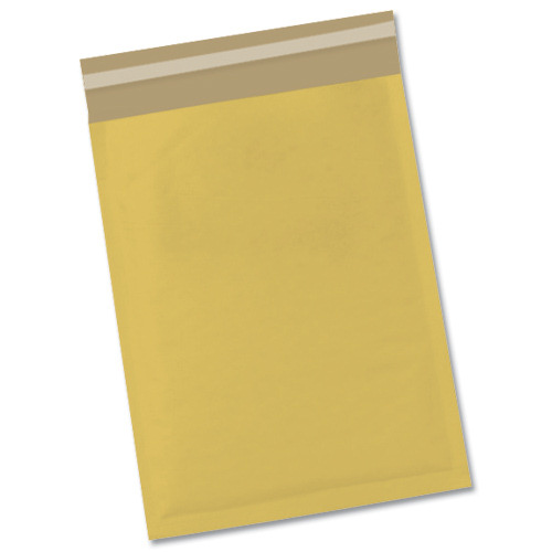 5 Star Office Bubble Bags Peel and Seal No.0 Gold 140x195mm [Pack 100]