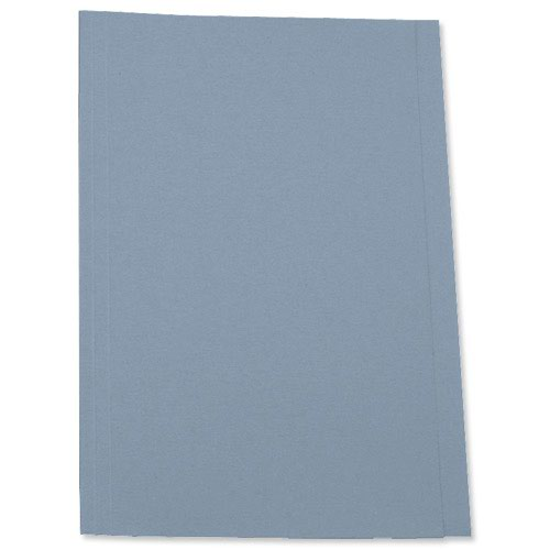 Value Square Cut Folder Foolscap Blue 250gsm