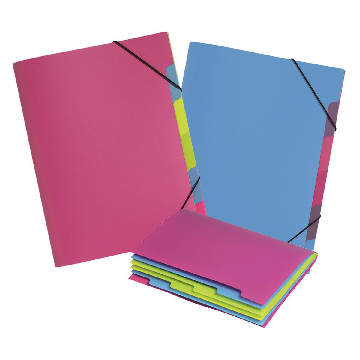 Pagna Fresh 5 Part File Elastic Corner Straps Polypropylene A4 Light Blue Ref 4180313 [Pack 10]