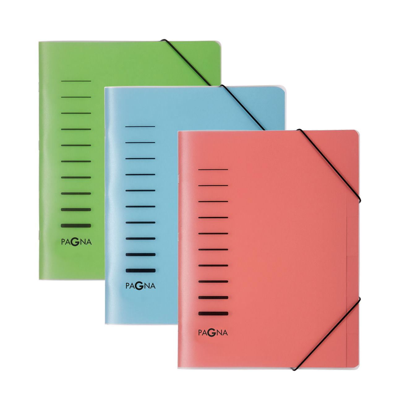 Pagna Classic 6 Part File Elastic Corner Straps Polypropylene A4 Blue Ref 4005602 [Pack 5]