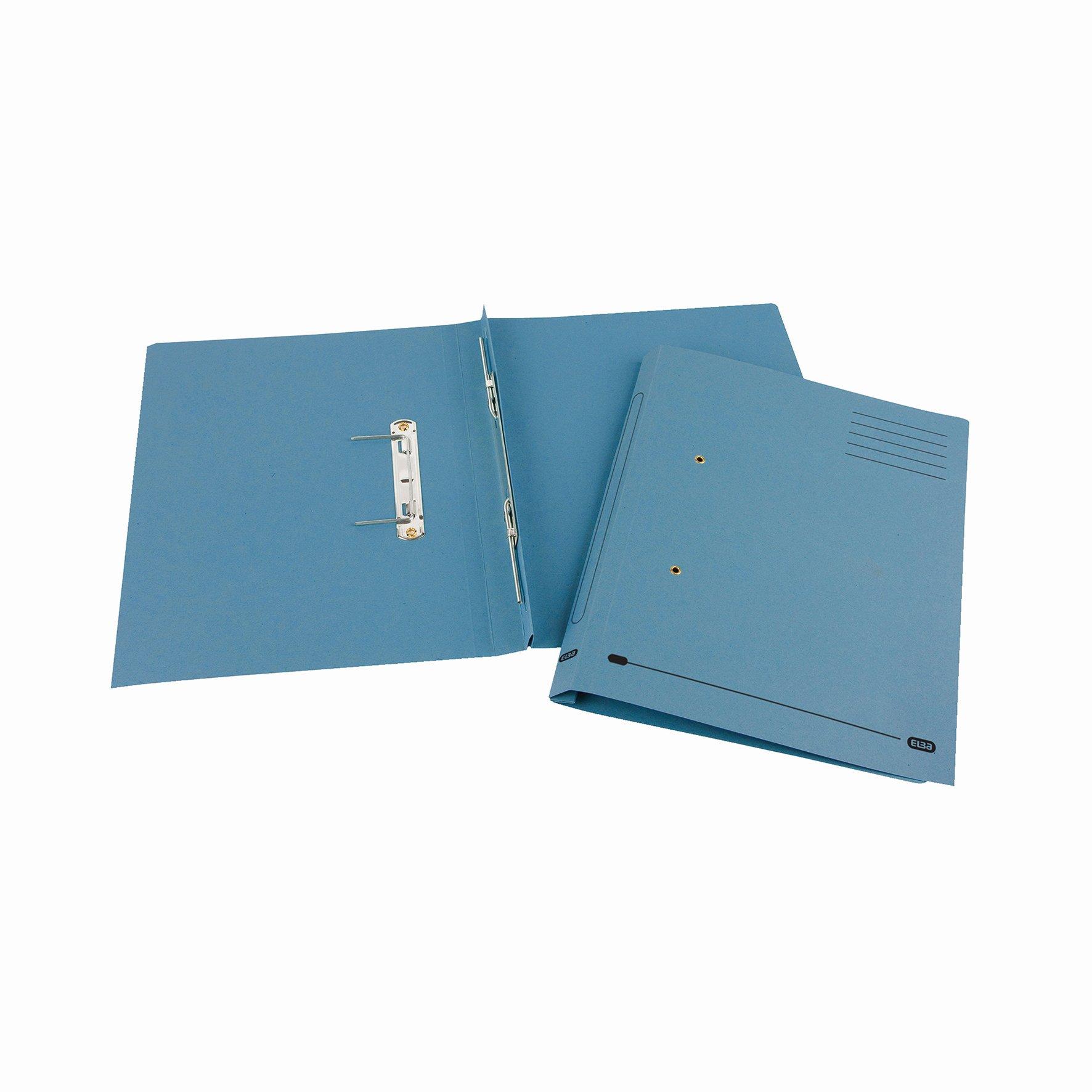 Elba Spirosort File Foolscap Blue 30613