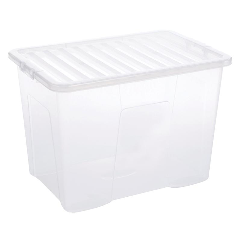 5 Star Storage Box 80L Clear