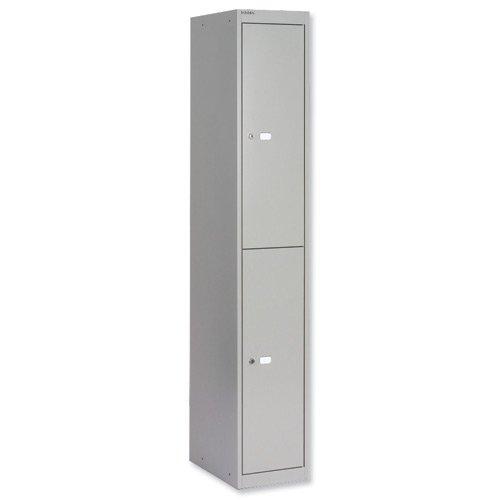 Image for Bisley Locker 2 Door 457mm Grey CLK182