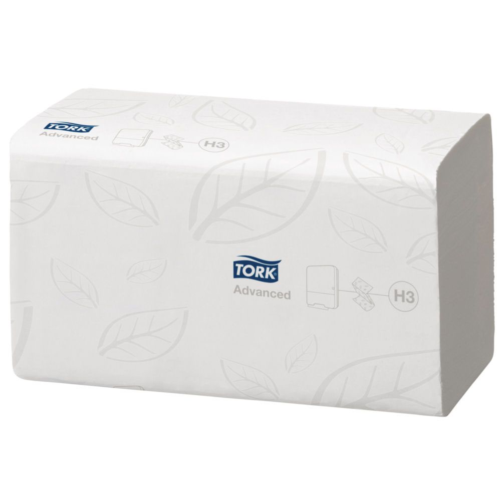 Tork Premium Hand Towel Leaf Embossed 2-Ply 170 Towels per Sleeve White Ref 100278 [Pack 15 Sleeves]