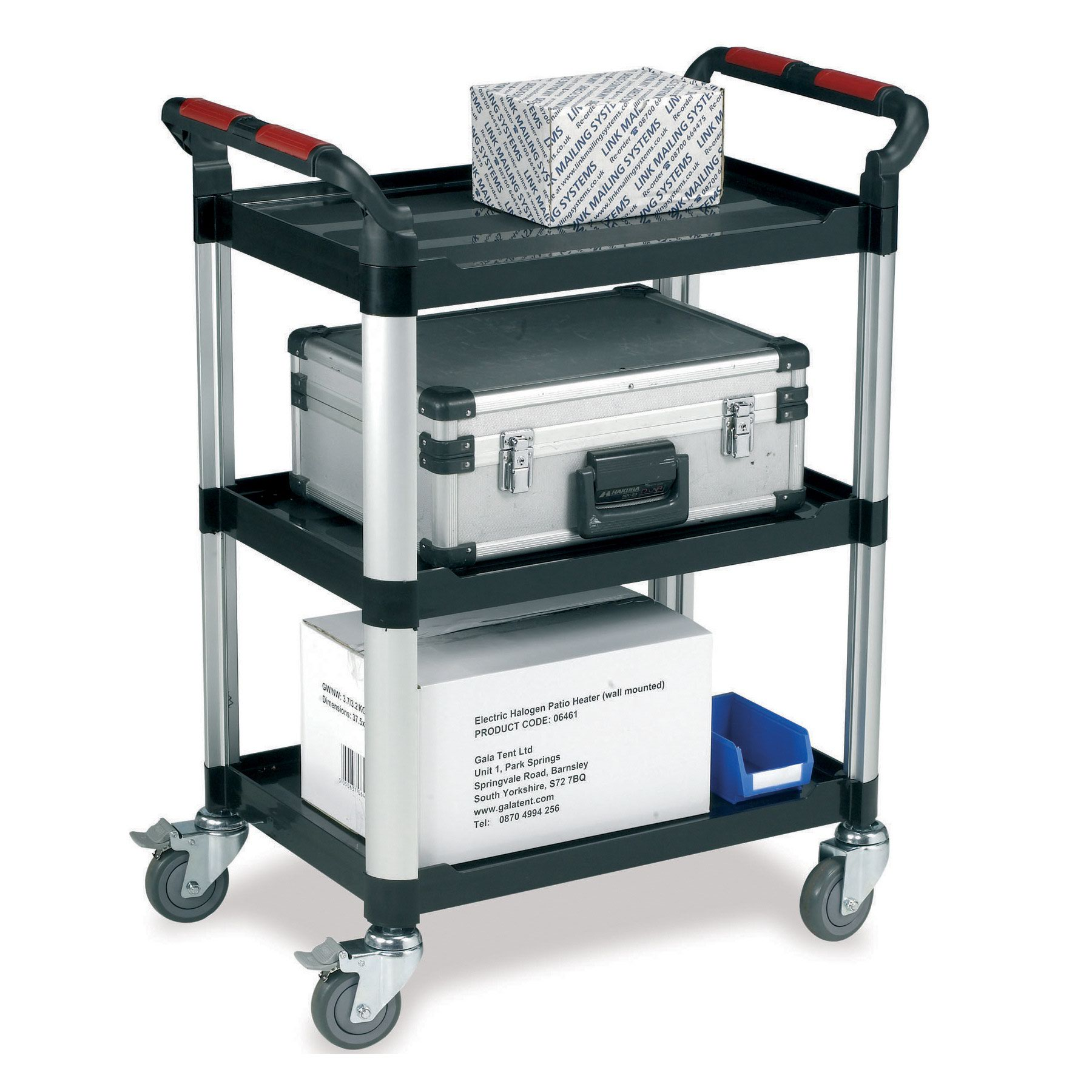 Image for Barton Utility Tray Trolley 3 Shelves WHTT3SS