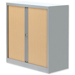 Bisley Eurotambour Unit H1030mm 2 Shelf Maple and Silver (Pack of 1)
