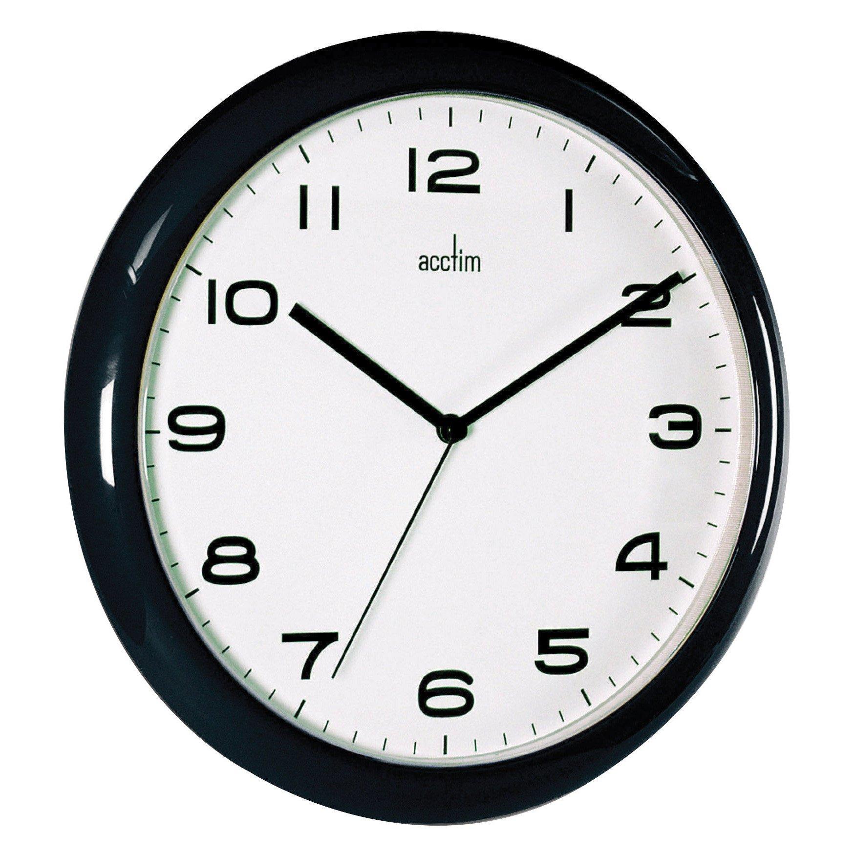 Image for Acctim Aylesbury Wall Clock Black 92/302