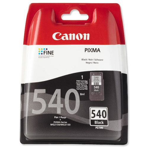 Canon No.540 Inkjet Cartridge Black PG-540 5225B005