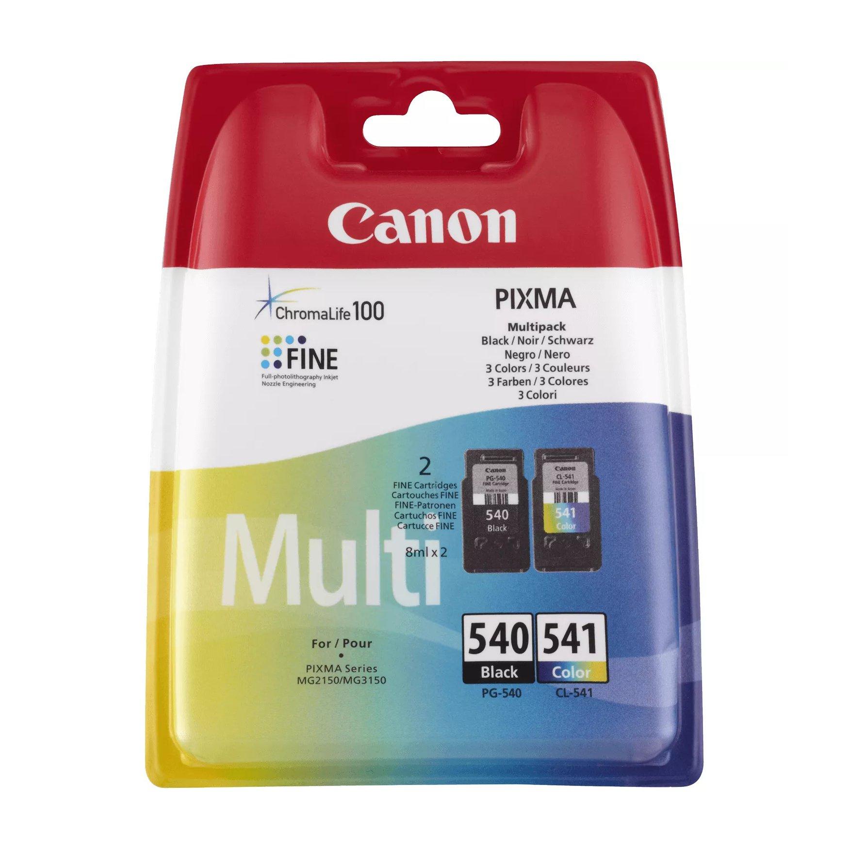 Canon No.540/541 Inkjet Cartridge Black/Colour Twinpack PG-540/CL-541 5225B006