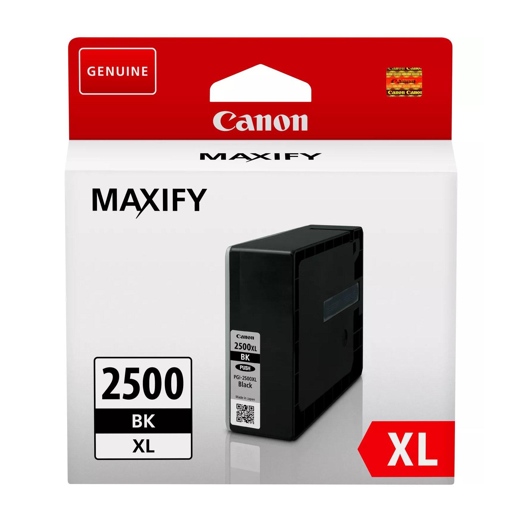 Canon No.2500 Inkjet Cartridge High Capacity Black PGI2500XLBK