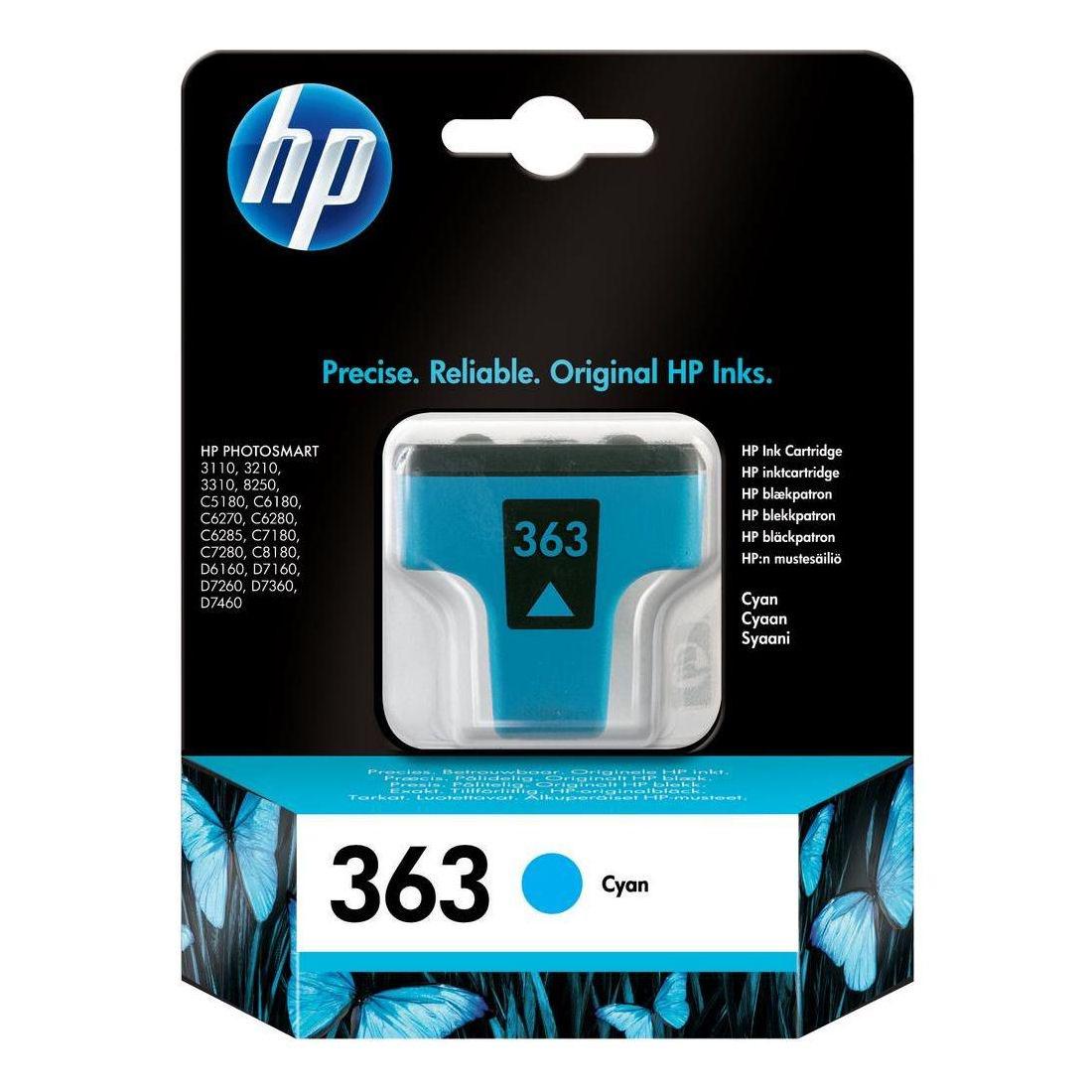HP No.363 Inkjet Cartridge Cyan C8771EE