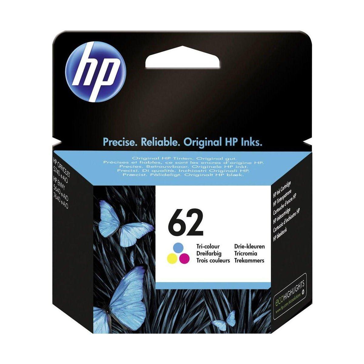 Hewlett Packard [HP] No. 62 Inkjet Cartridge Tri Colour Ref C2P06AE
