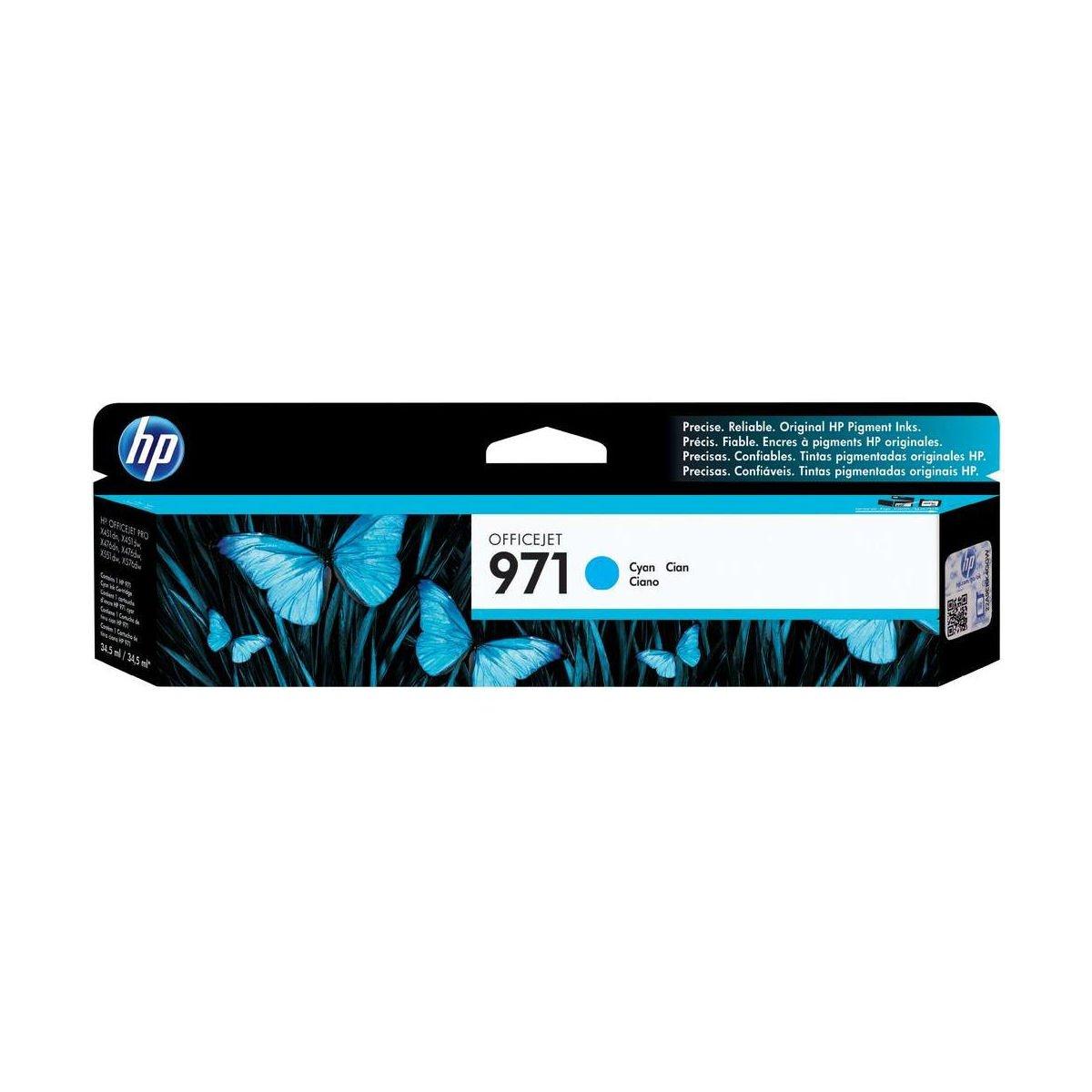 Hewlett Packard HP 971 Officejet Inkjet Cartridge Page Life 2500pp Cyan Ref CN622AE