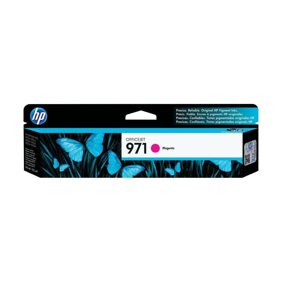 Hewlett Packard HP 971 Officejet Inkjet Cartridge Page Life 2500pp Magenta Ref CN623AE