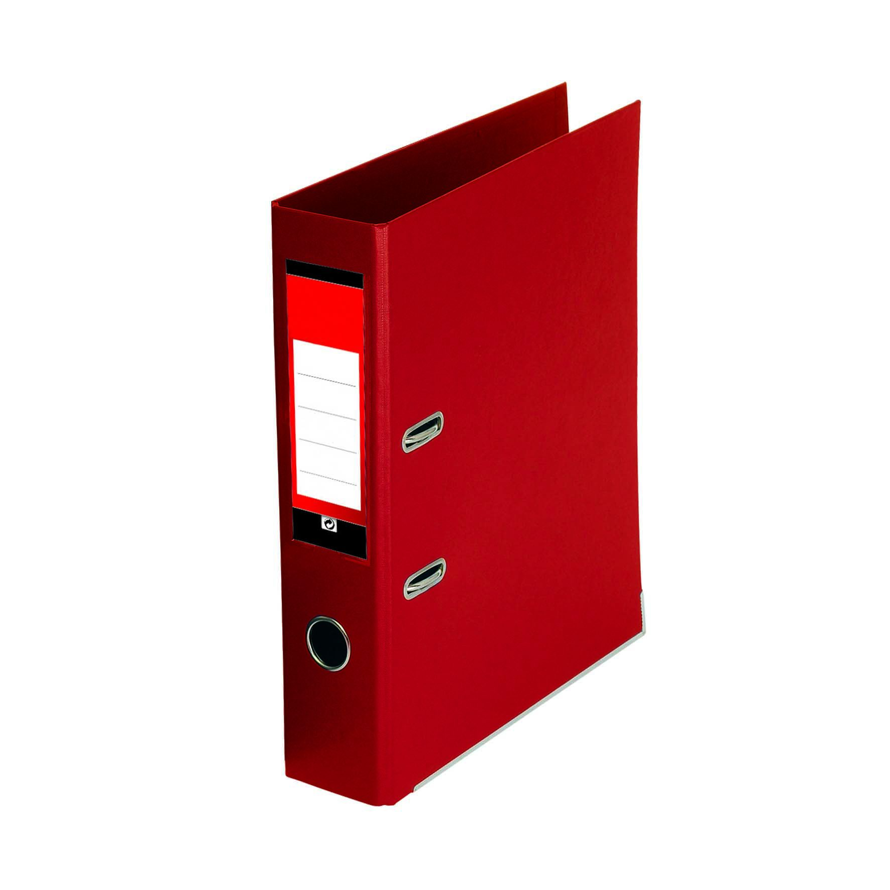 Value PVC Lever Arch File A4 Red