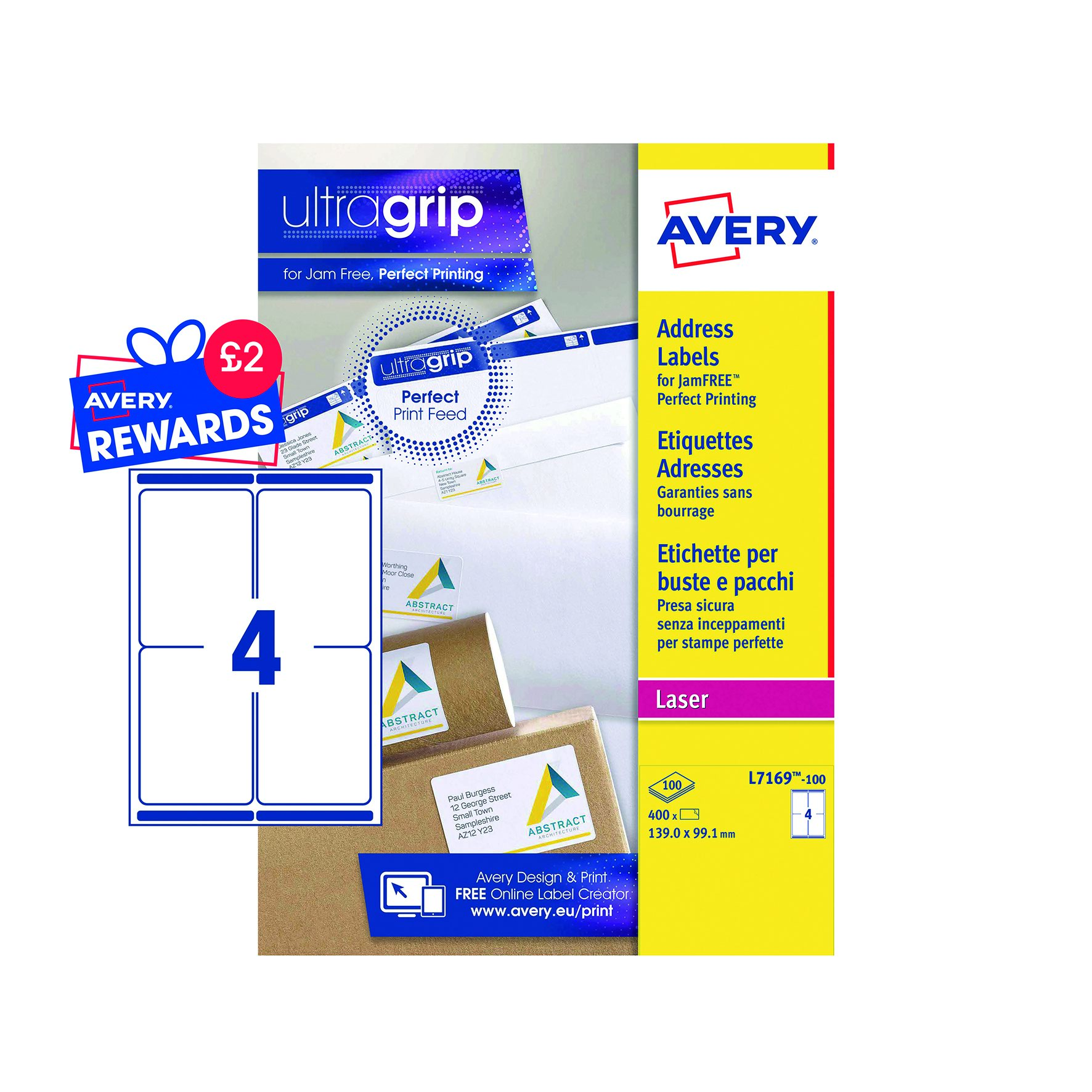 Avery Blockout Quickpeel Laser Labels 1390x991mm White 100 L7169