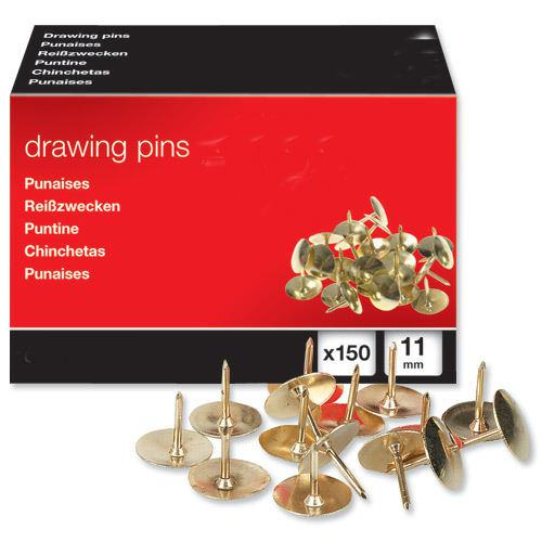 Value Drawing Pins Brass (150)