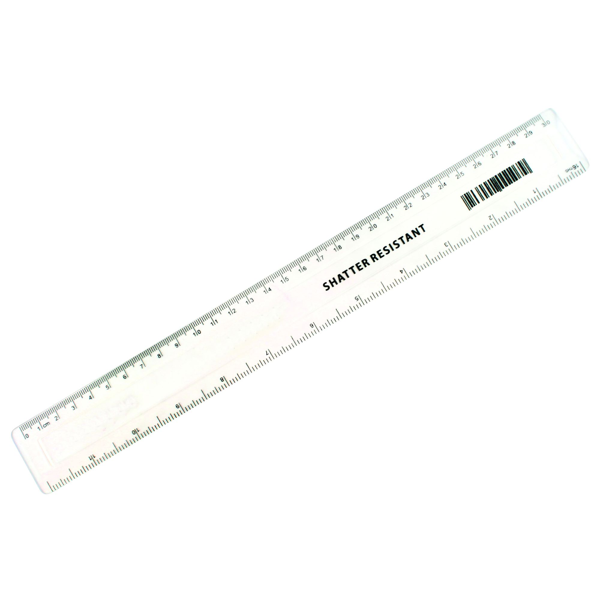Value Shatter Resistant Ruler 300mm Clr