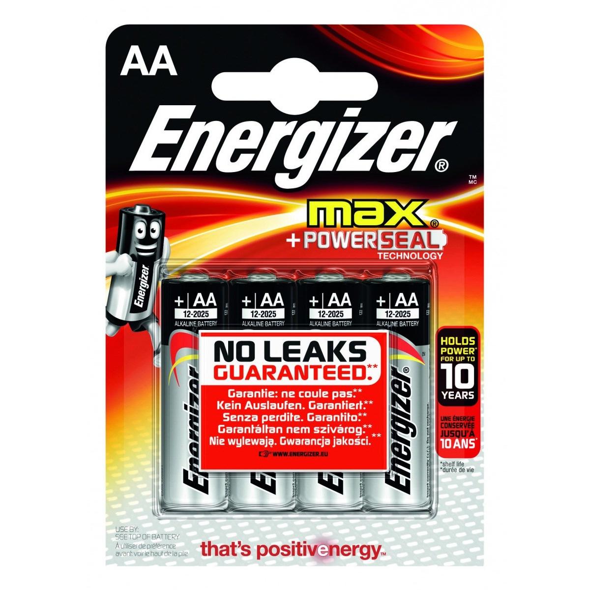Energizer Max Battery E91/AA (4) E300112500