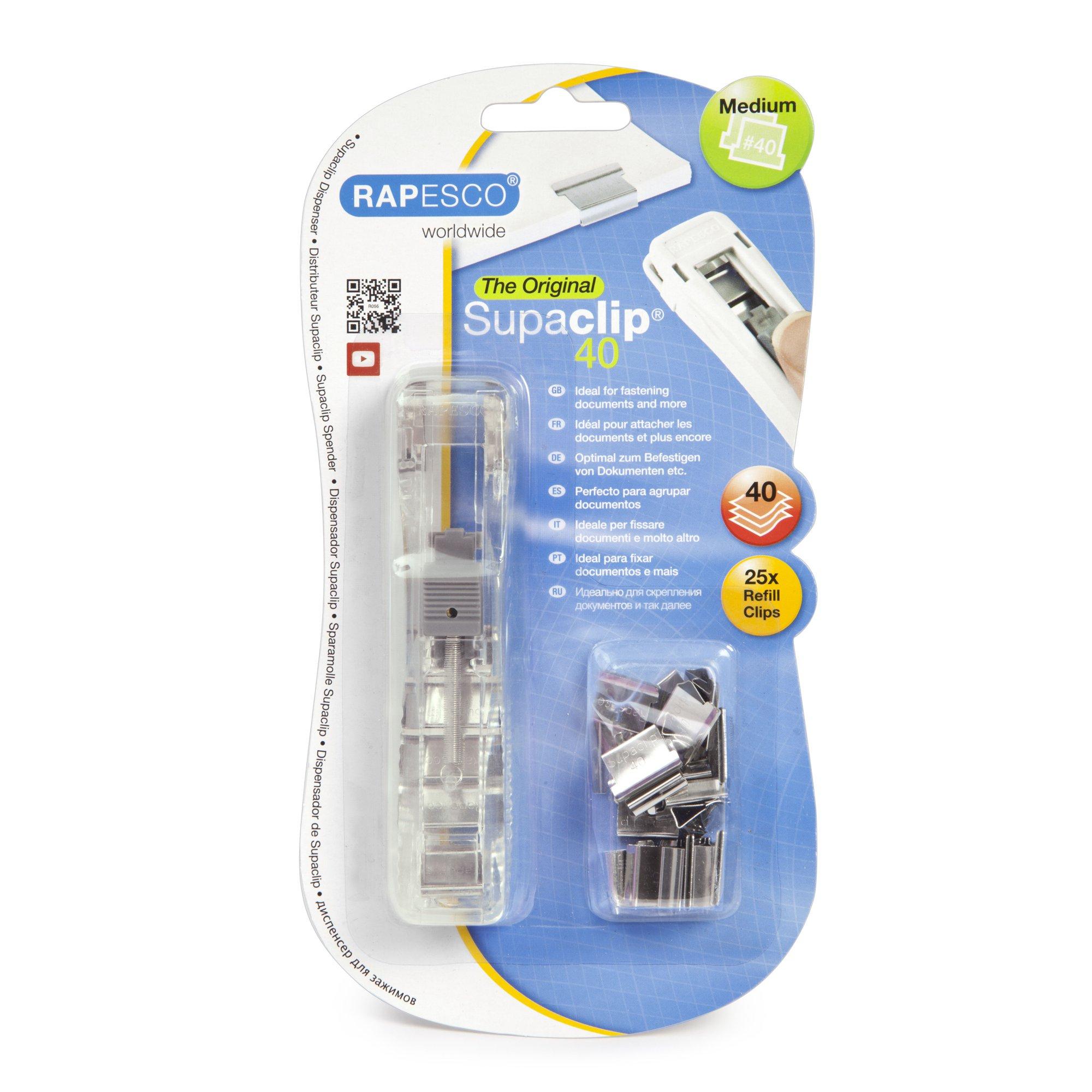 Image for Rapesco Supaclip 40 Dispenser RC4025SS