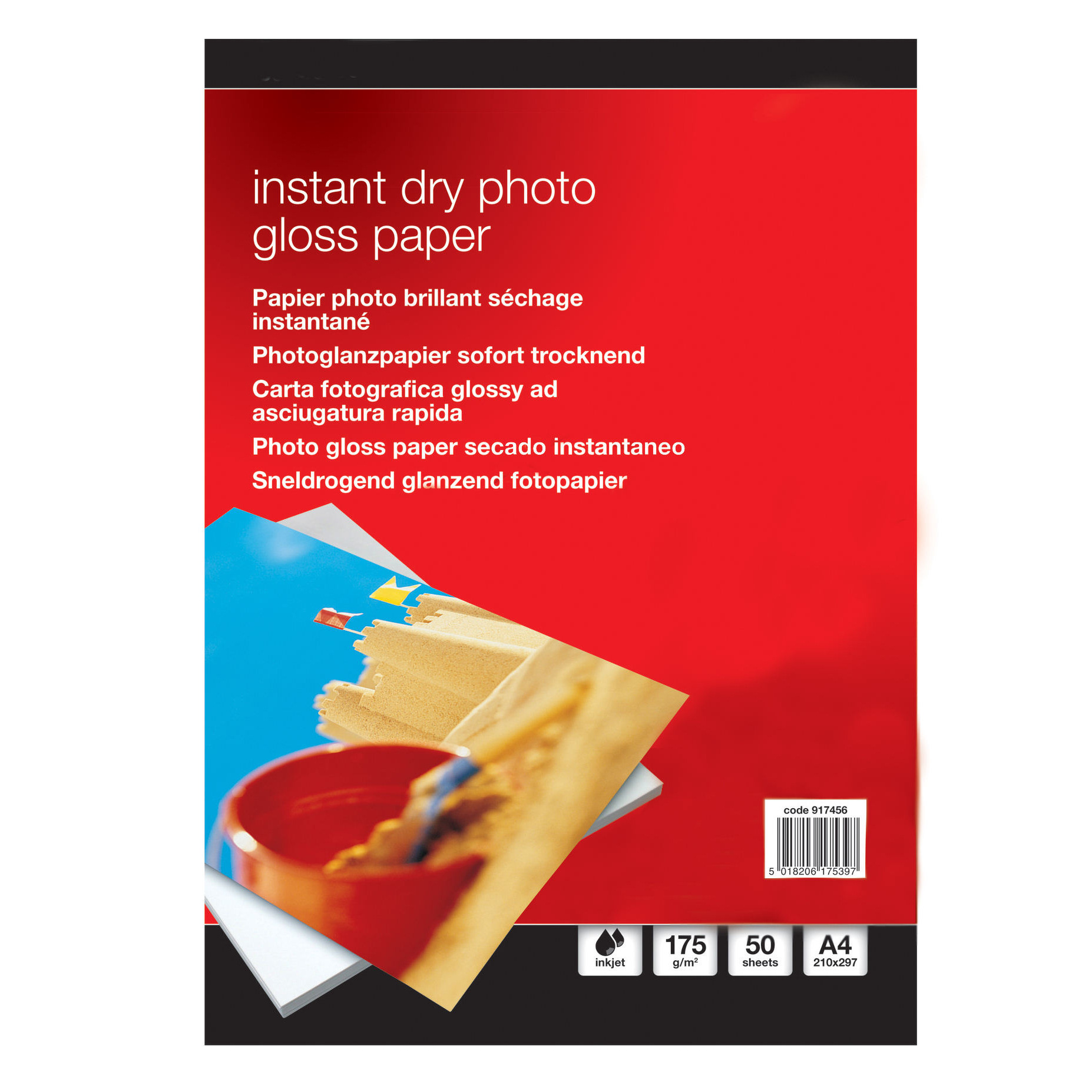Value Instant Dry Photo Gloss Paper A4 175gsm (50)