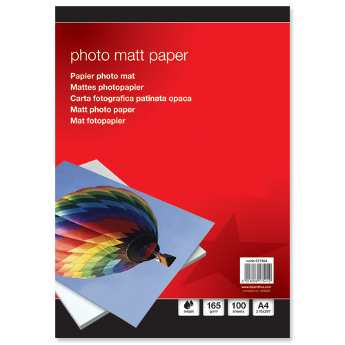 Value Premier Matt Photo Paper 165gsm (100)