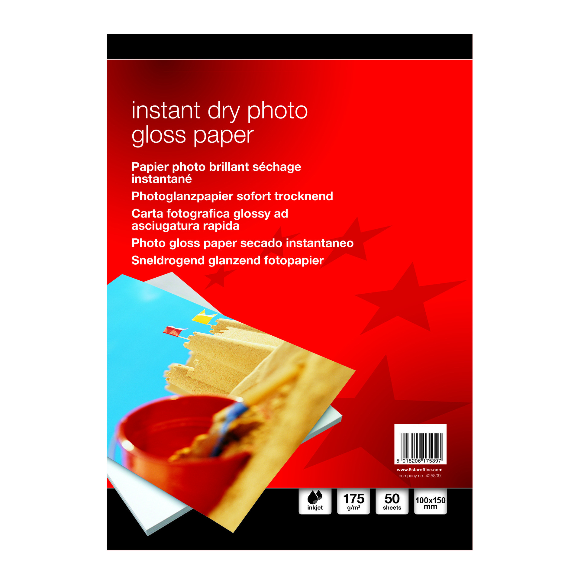Value Instant Dry Photo Gloss Paper 100x150mm 175gsm (50)
