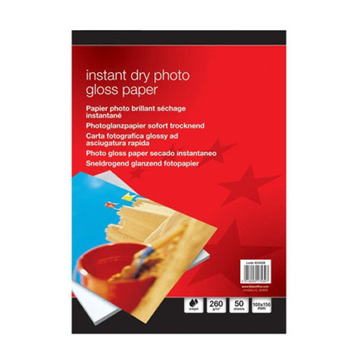 Value Instant Dry Photo Gloss Paper 100x150mm 260gsm (50)