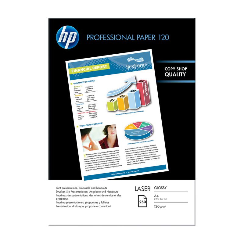 HP Professional Laser Glossy Paper A4 120gsm (250) CG964A