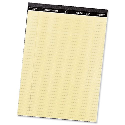 Value Executive Pad A4 Yellow