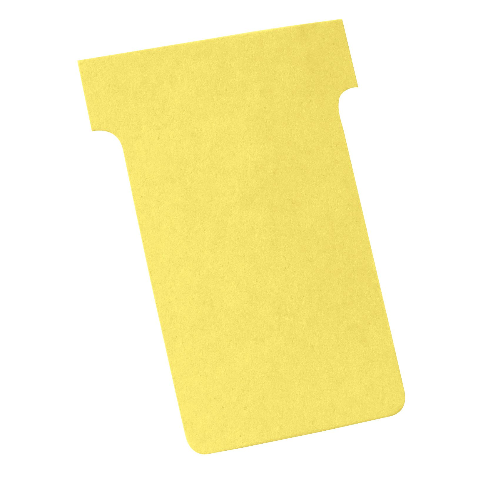 Nobo T-Cards A50 Size 2 Yellow (100) 2002004