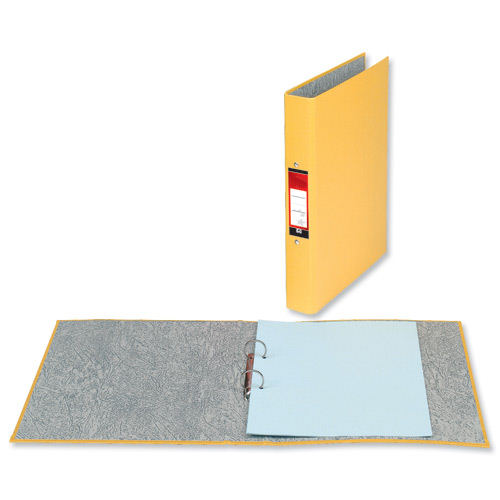 Value 2 Ring Binder A4 Yellow