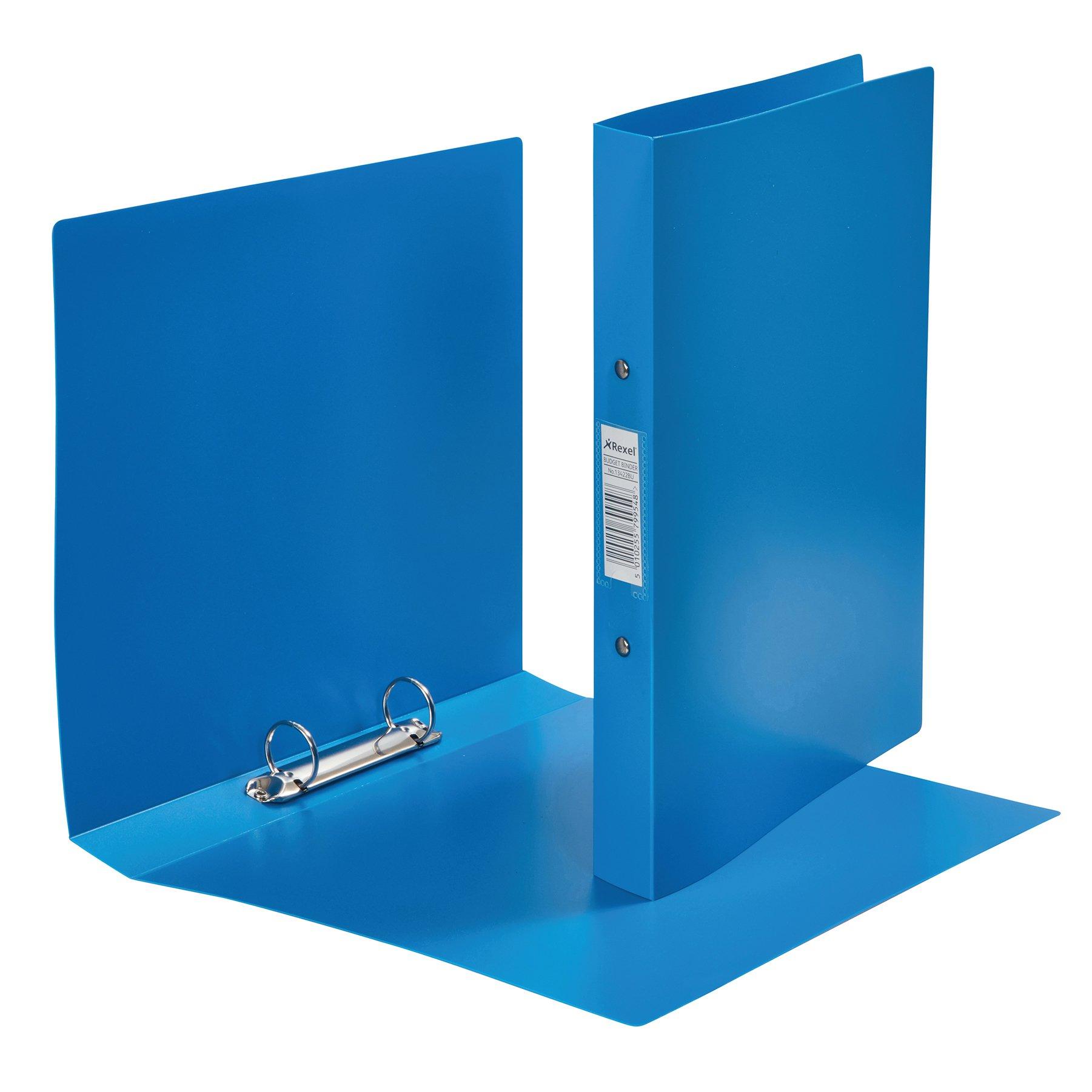 Rexel Budget Binder 2 Ring A4 Blue 13422BU