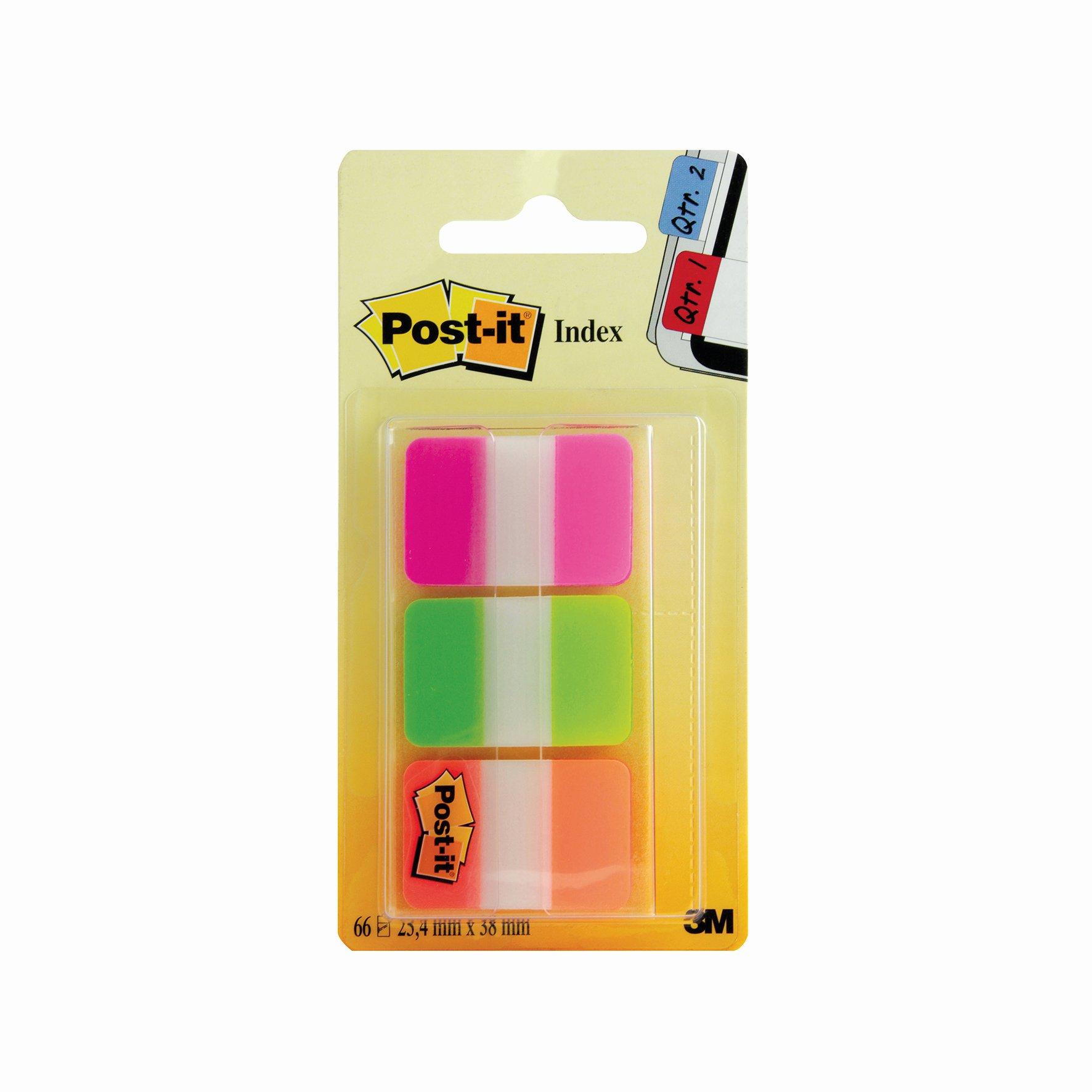 3M Post-it Strong Index Tabs 25mm Pink/Green/Orange (66) 686-PGO