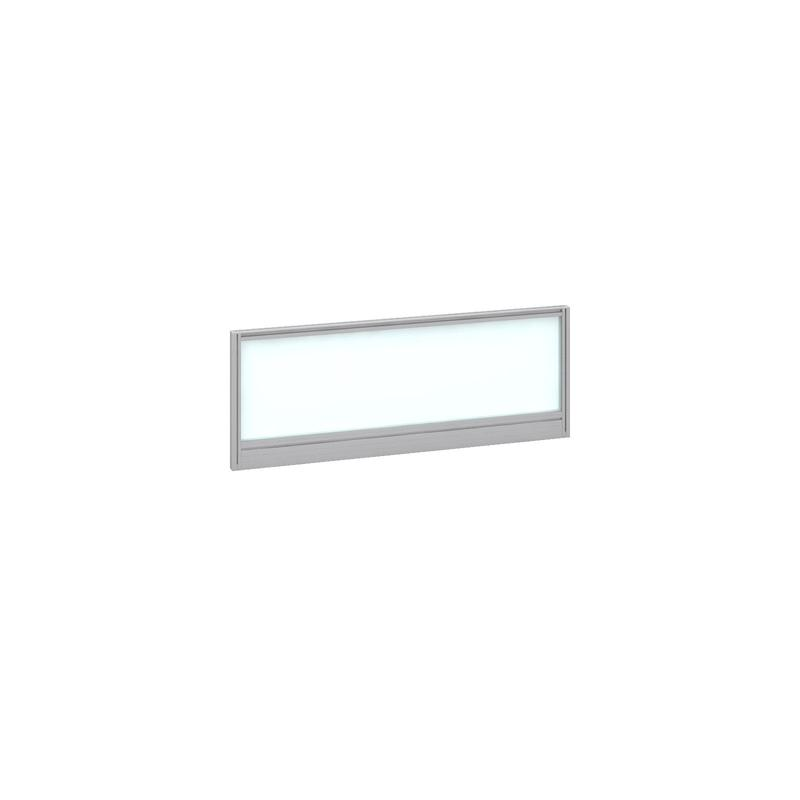 Image for Deluxe Glazed Screen 1000mm Silver Frame/White Glazing AG1000-S-W