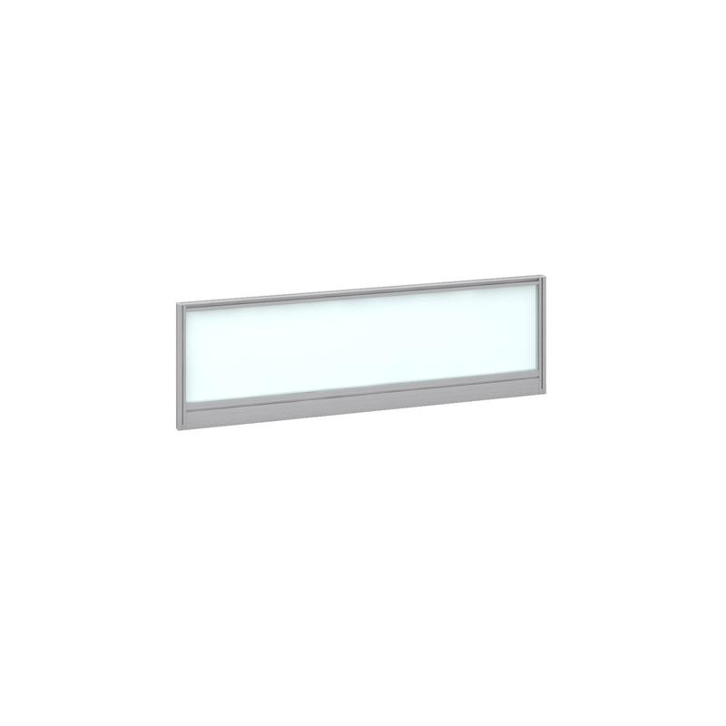 Image for Deluxe Glazed Screen 1200mm Silver Frame/White Glazing AG1200-S-W