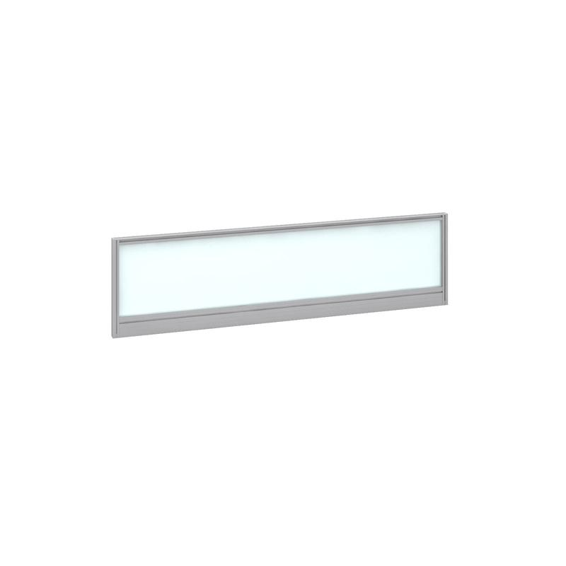 Image for Deluxe Glazed Screen 1400mm Silver Frame/White Glazing AG1400-S-W