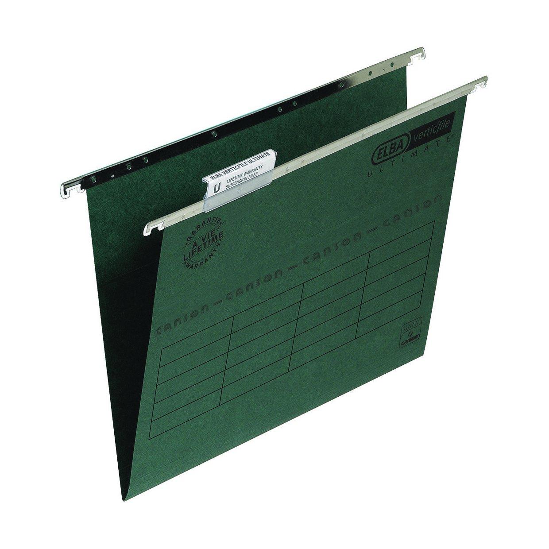 Elba Verticfile Ultimate Suspension File Foolscap Green (50) 100331250