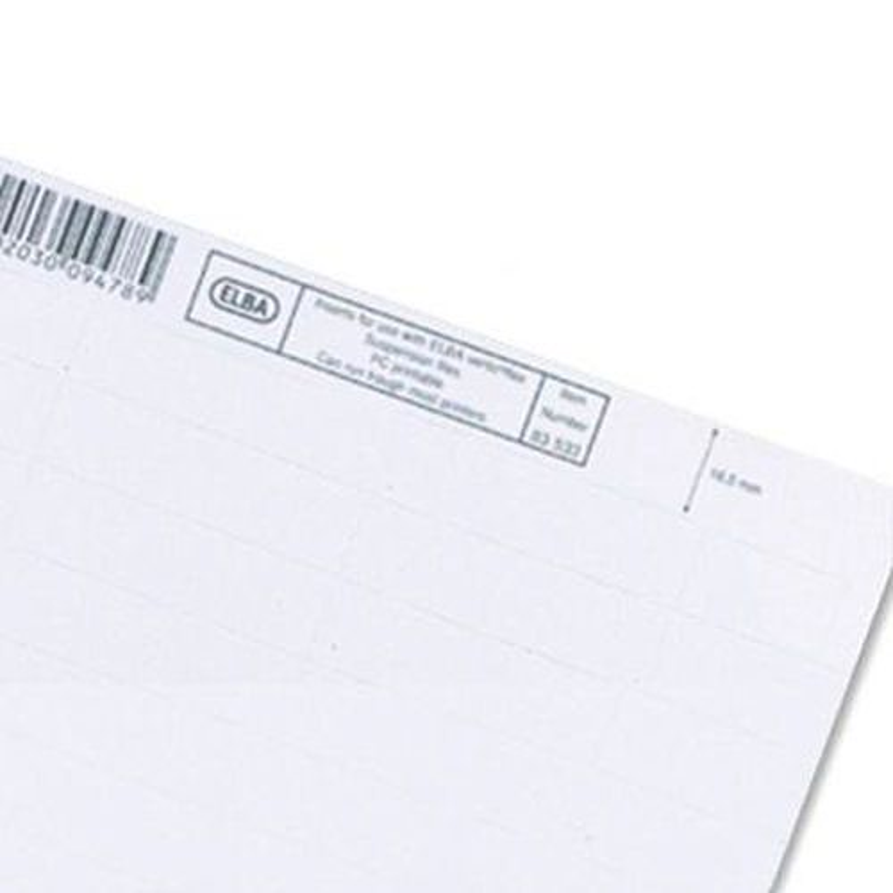 Elba Verticfile Inserts White (50) 100330219
