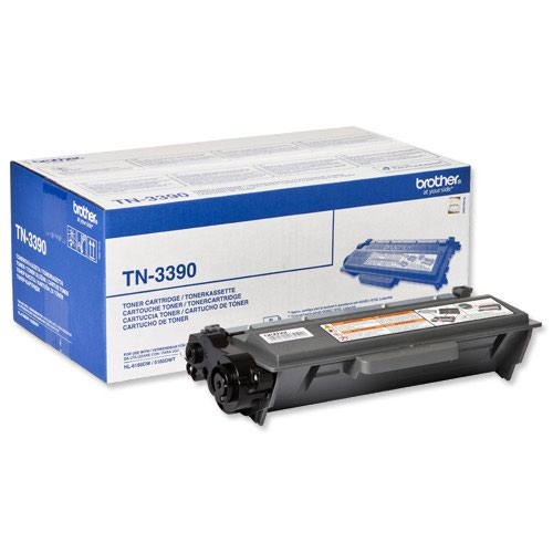 Brother Laser Toner Cartridge Super High Yield Page Life 12000pp Black Ref TN3390
