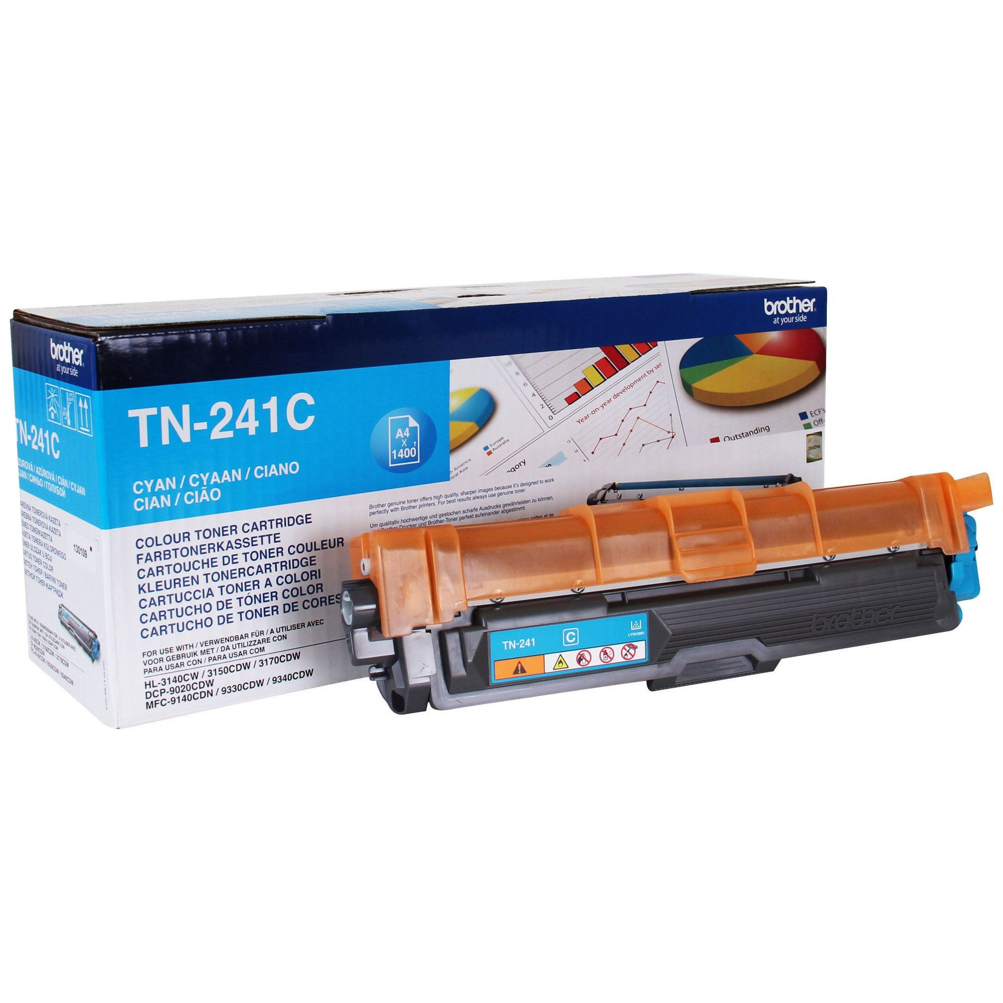 Brother Toner Cartridge Cyan TN241C