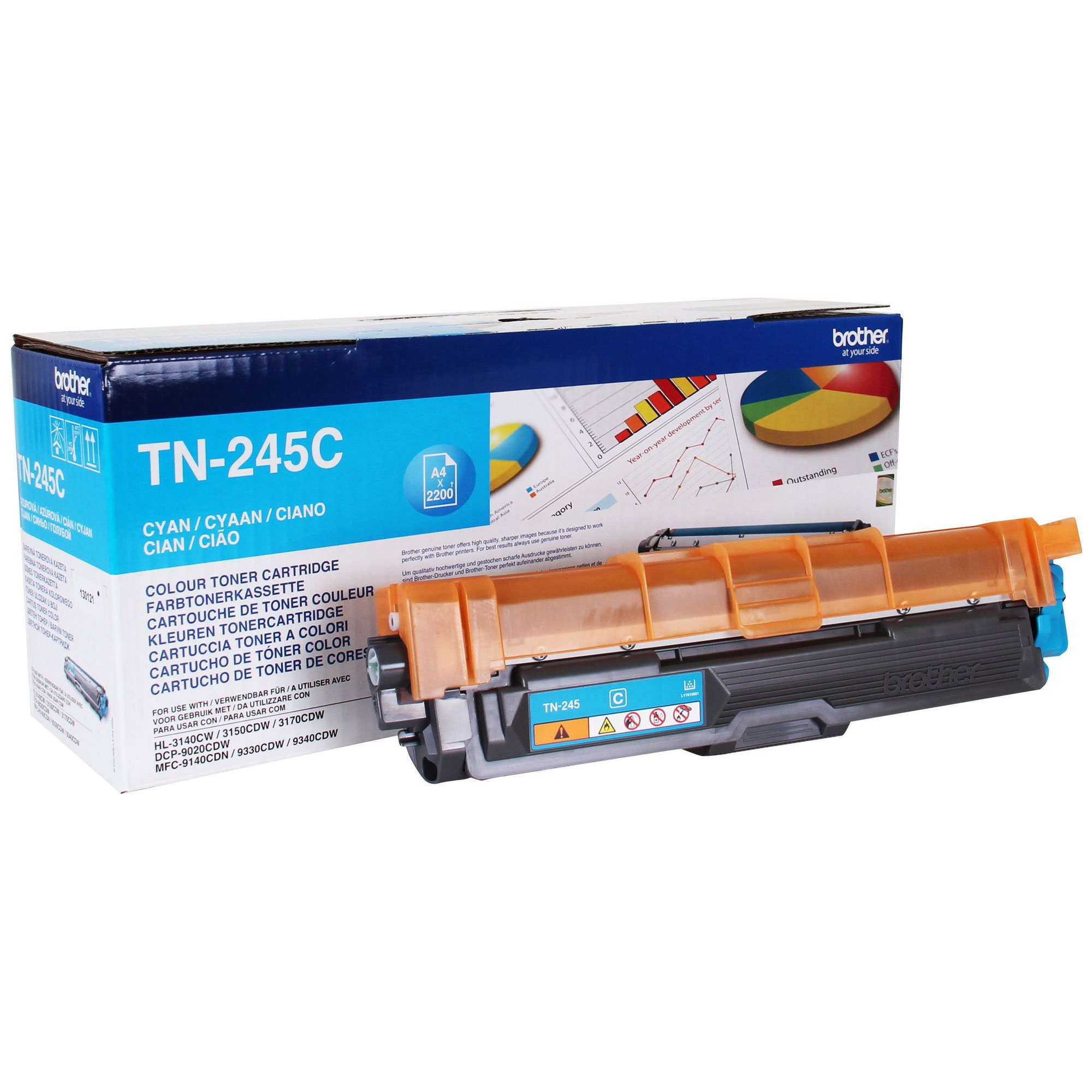 Brother Toner Cartridge High Capacity Cyan TN245C