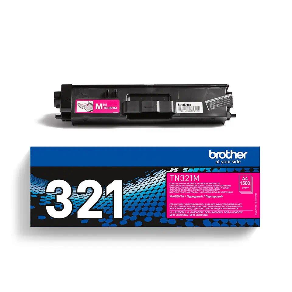 Brother Laser Toner Cartridge Page Life 1500pp Magenta Ref TN321M