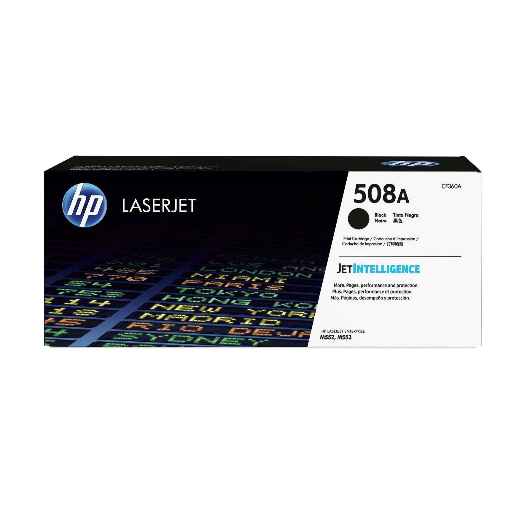 Hewlett Packard [HP] 508A LaserJet Toner Cartridge Page Life 6000pp Black Ref CF360A